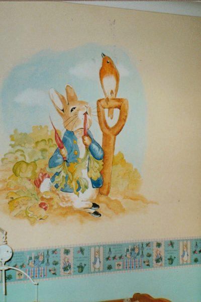 peter rabbit baby room mural