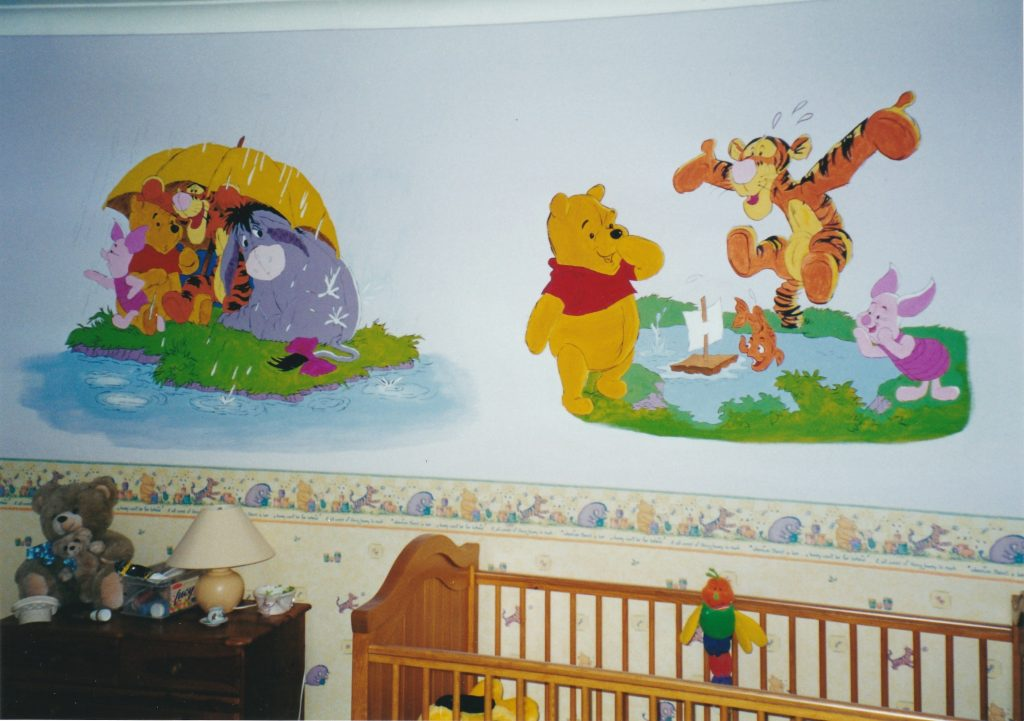 completed Winnie the Pooh Mural