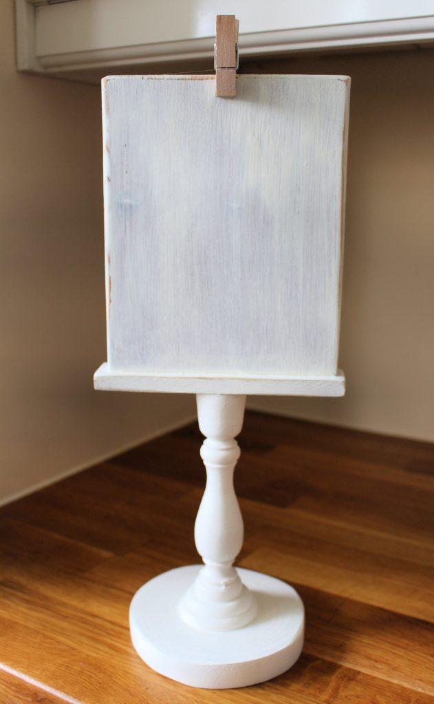 DIY farmhouse pedestal holder