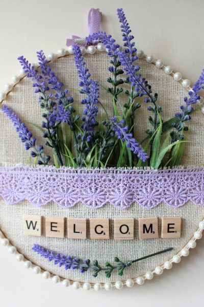 Embroidery hoop pocket lavender picture