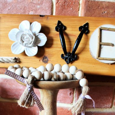 Random items and materials LOVE sign
