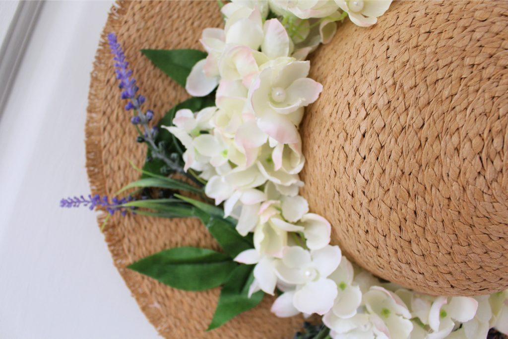Primark hat makeover with flowers