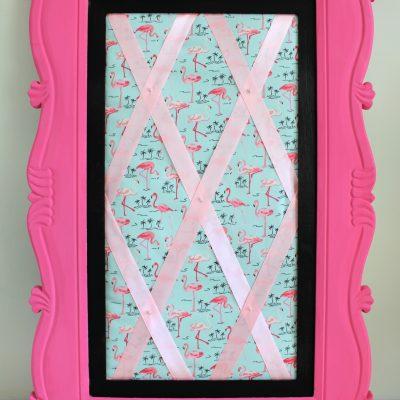 Pretty in Pink DIY fabric memo board