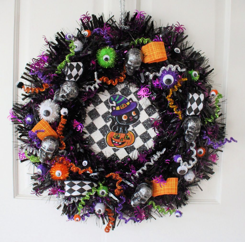 Halloween wreath make-over
