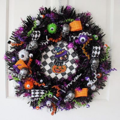 Adding EXTRA to my shop bought Halloween wreath