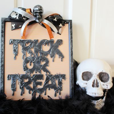 Trick or treat sign spooky Halloween makeover