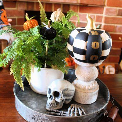 MacKenzie Childs inspired DIY painted pumpkin
